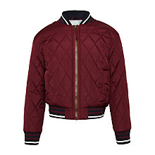 Buy John Lewis Boys' Lightweight Bomber Jacket, Burgundy Online at johnlewis.com