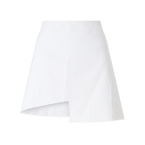 Buy Waven Ina Cut Away Skirt, White Online at johnlewis.com