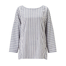 Buy Harris Wilson Elegie Stripe Blouse, Blue/White Online at johnlewis.com