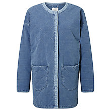 Buy Numph Geira Quilted Denim Jacket, Cashmere Blue Online at johnlewis.com