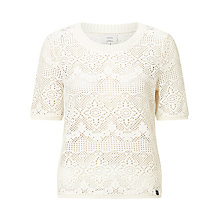 Buy Numph Olena Knitted Top, White Online at johnlewis.com