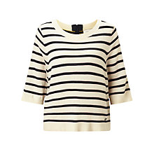 Buy Numph Maggy Stripe Jumper, Dark Sapphire Online at johnlewis.com