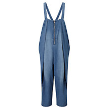 Buy Waven Faye Oversized Dungarees, Mid Blue Online at johnlewis.com