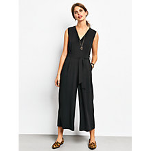 Buy hush Riviera Jumpsuit, Black Online at johnlewis.com
