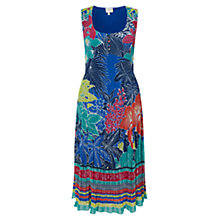 Buy East Carina Print Pleated Dress, Ocean Online at johnlewis.com