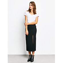 Buy hush Jersey Split Skirt, Black Online at johnlewis.com