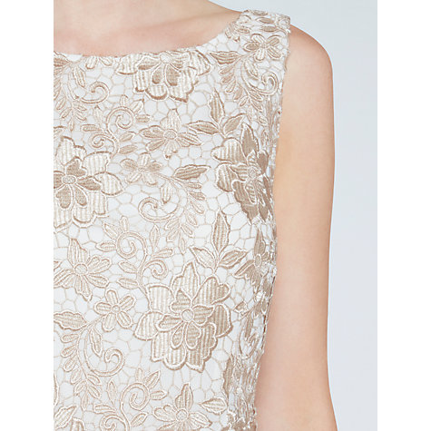 Buy Gina Bacconi Guipure Lace Shift Dress, Almond Online at johnlewis.com