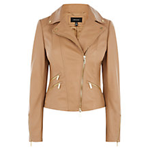 Buy Karen Millen Leather Biker, Neutral Online at johnlewis.com
