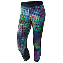 Buy Nike Pro Hypercool Capri Running Tights, Green/Black Online at johnlewis.com