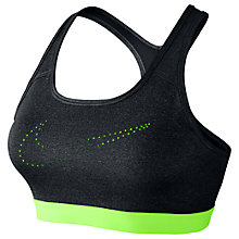Buy Nike Pro Classic Cooling Sports Bra, Black Online at johnlewis.com