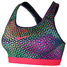 Buy Nike Pro Classic Kaleidoscope Sports Bra, Pink/Multi Online at johnlewis.com