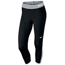 Buy Nike Pro Capri Training Tights, Black/Grey Online at johnlewis.com