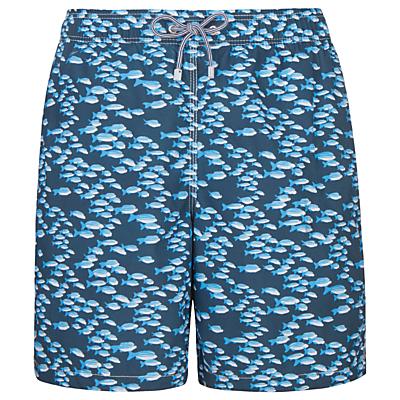 Hackett London School of Fish Swim Shorts, Navy