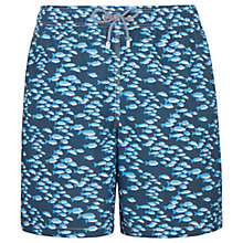 Buy Hackett London School of Fish Swim Shorts, Navy Online at johnlewis.com