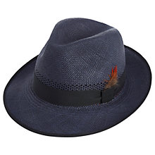 Buy Christys' Notting Hill Snap Brim Panama Hat, Navy Online at johnlewis.com
