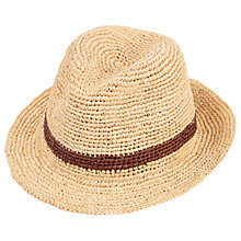 Buy Christys' Straw Bude Trilby Hat, Natural Online at johnlewis.com