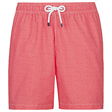 Buy Hackett London Micro Geo Print Swim Shorts, Coral Online at johnlewis.com