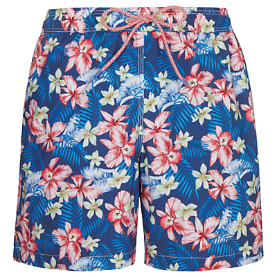 Hackett London Hawaiian Swim Shorts, Navy