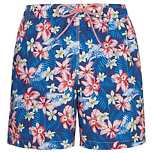 Buy Hackett London Hawaiian Swim Shorts, Navy Online at johnlewis.com