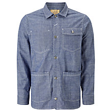 Buy JOHN LEWIS & Co. Chambray Jacket, Blue Online at johnlewis.com