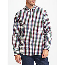 Buy John Lewis Gingham Poplin Regular Fit Shirt, Blue/Purple Online at johnlewis.com