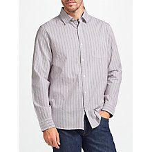 Buy John Lewis Textured Stripe Regular Fit Shirt, Blue/Red Online at johnlewis.com