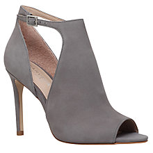 Buy Carvela Glacier Cut Out Peep Toe Sandals, Grey Online at johnlewis.com