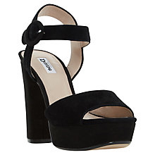 Buy Dune Monacco Block Heeled Platform Sandals, Black Online at johnlewis.com