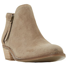 Buy Dune Pollyanna Block Heeled Ankle Boots Online at johnlewis.com