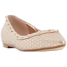 Buy Dune Bambina Studded Flat Shoes Online at johnlewis.com