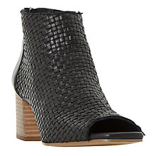 Buy Dune Idoll Weave Peep Toe Shoe Boots Online at johnlewis.com