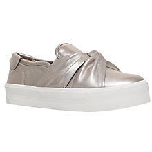 Buy Carvela Loren Flatform Slip On Trainers, Pewter Online at johnlewis.com