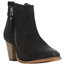 Buy Dune Pontoon Wide Fit Stacked Heel Ankle Boots Online at johnlewis.com
