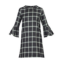 Buy Jolie Moi Check Fluted Sleeve Tunic Online at johnlewis.com