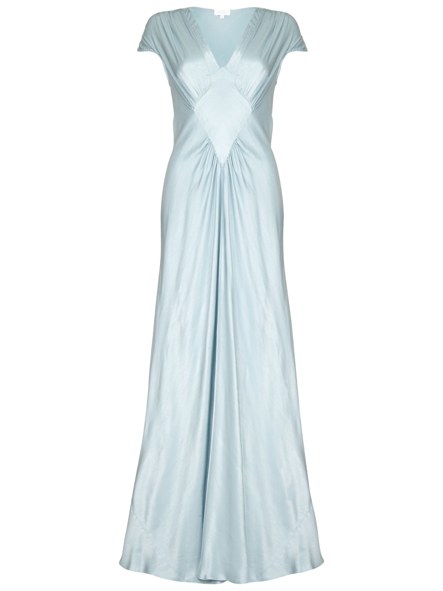 1930s Style Fashion Dresses Ghost Iris Satin Dress £265.00 AT vintagedancer.com