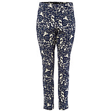 Buy Phase Eight Annie Floral Jacquard Trousers, Blue/Ivory Online at johnlewis.com