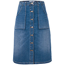 Buy Fat Face Alexa Denim Skirt, Blue Online at johnlewis.com
