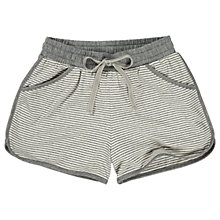 Buy Fat Face Jersey Striped Shorts, Grey Online at johnlewis.com