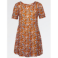 Buy Fat Face Louisa Painted Blossom Dress, Ginger Online at johnlewis.com