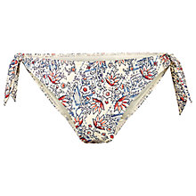 Buy Fat Face Vintage Chevron Tie Side Bikini Bottoms, Ivory Online at johnlewis.com