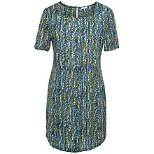 Buy Fat Face Louisa Antique Woodblock Dress, Vintage Blue Online at johnlewis.com
