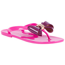 Buy Ted Baker Rafeek Bow Flip Flops, Purple/Pink Online at johnlewis.com
