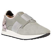 Buy Ted Baker Kygoa Slip On Trainers, Grey/Pink Online at johnlewis.com