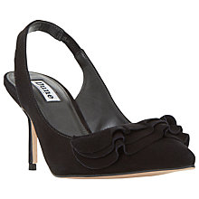 Buy Dune Cotton Frill Slingback Court Shoes Online at johnlewis.com
