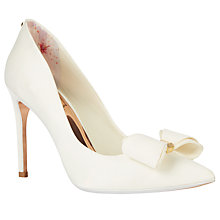 Buy Ted Baker Azeline Tie the Knot Bow Stiletto Heeled Court Shoes Online at johnlewis.com
