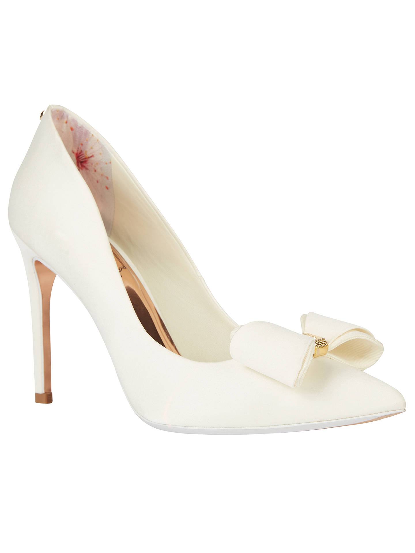 15f365b974f9ab Ted Baker Tie the Knot Azeline Bow Stiletto Heeled Court Shoes at ...