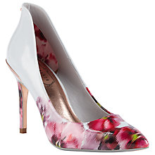 Buy Ted Baker Savei Expressive Pansy Court Shoes, Multi Online at johnlewis.com