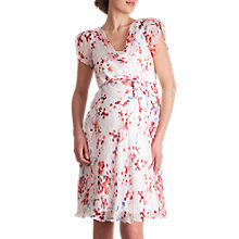 Buy Séraphine Lizzie Cherry Blossom Silk Chiffon Maternity Dress, Multi Online at johnlewis.com