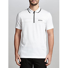 Buy BOSS Green Pro Golf Pronghorn Polo Shirt, White Online at johnlewis.com