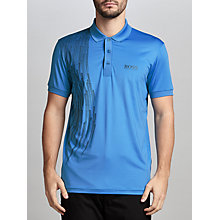 Buy BOSS Green Pro Golf Paule Pro Polo Shirt, Medium Blue Online at johnlewis.com